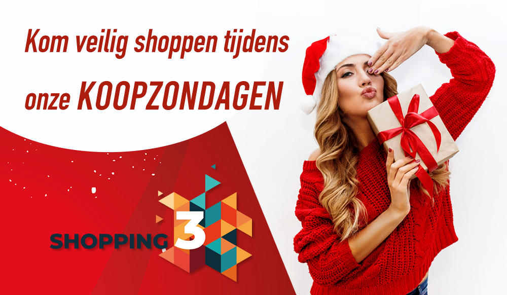Zondag 13,20 en 27 december is ons Shopping Center open!